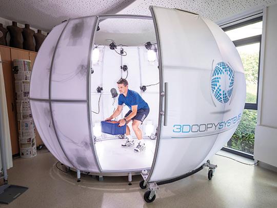 4D-Scanner - Veränderung von Körpermaßen während der Bewegung
